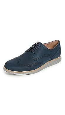콜한 오리지널 그랜드 옥스포드 신발 Cole Haan Original Grand Shortwing Lace Up Shoes,Blazer Blue/Ironstone