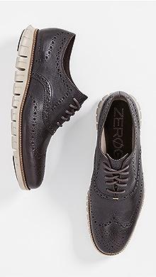 콜한 제로그랜드 윙팁 옥스포드 신발 Cole Haan ZeroGrand Wingtip Oxford Shoes,Java