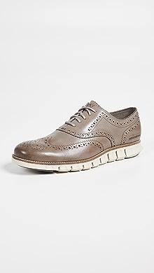콜한 제로그랜드 윙팁 옥스포드 신발한 Cole Haan Zerogrand Wingtip Oxfords,Ironstone/Ivory