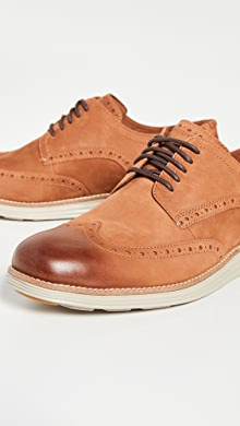 콜한 오리지널 그랜드 옥스포드 신발Cole Haan Original Grand Short Wingtip Oxfords,British Tan