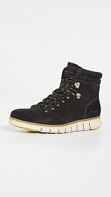 콜한 하이커 부츠 Cole Haan Zerogrand Waterproof Hiker Boots,Midnight Grey/Brazilian