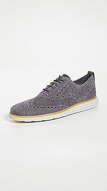 콜한 옥스포드 슈즈 Cole Haan Original Grand Stitchlite Wingtip Oxford Shoes,Quiet Shade/Grey P