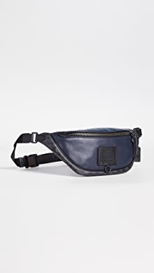 코치 뉴욕 벨트백 COACH New York Signature Blocking Rivington Utility Pack,JI/Midnight Navy/Charcoal