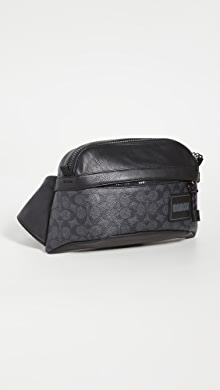 코치 뉴욕 벨트백 COACH New York Signature Sporty Family Sport Pack,Charcoal