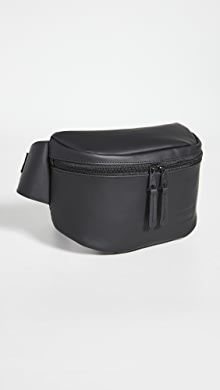 이스트팩 벨트백 Eastpak Bane Coated Leather Waist Pack,Black