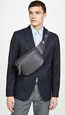 이스트팩 벨트백 Eastpak Bane Coated Leather Waist Pack,Grey
