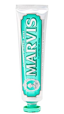 마비스 민트 치약 Marvis Classic Strong Mint Toothpaste,No Color