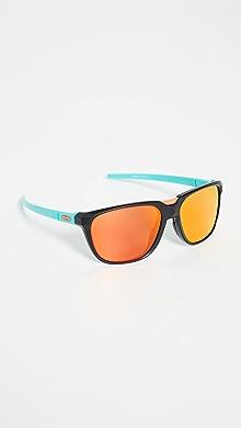 오클리 선글라스 Oakley Anorak PRIZM Sunglasses,Matte Black/Ruby