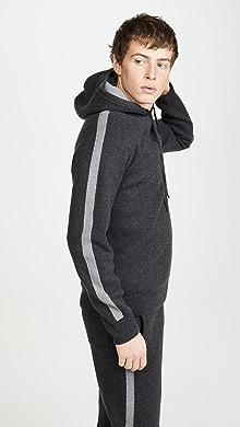 띠어리 울 캐시미어 스웨터 Theory Lounge Wool Cashmere Hoodie,Dark Charcoal