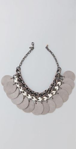 ACB by Annie Costello Brown Layered Chain Paillette Necklace