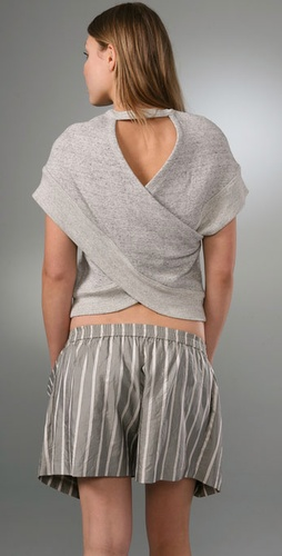 Alexander Wang Sweatshirt Top with Crossover Back