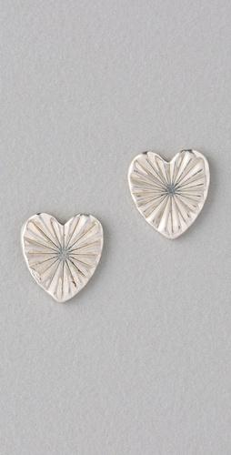Bing Bang Tiny Heart Stud Earrings