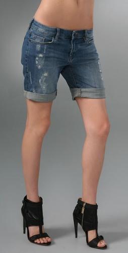 Blank Denim Boyfriend Shorts