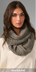 Bop Basics Thick Knit Eternity Scarf.