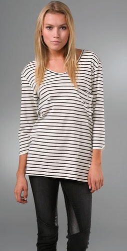 Cassette Society Sparrow Stripe Tee with Studs