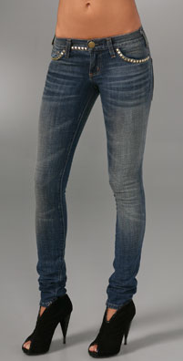 Current/Elliott The Skinny Jeans with Studs