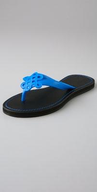 Dvf Lush Love Knot Jelly Flip Flops: $65