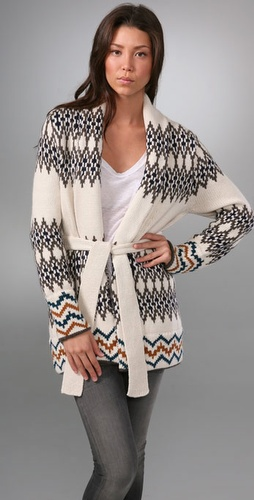 Dolce Vita Zigzag Cardigan Sweater