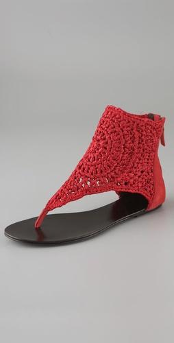 Elizabeth and James Gypsy Macrame Thong Sandals