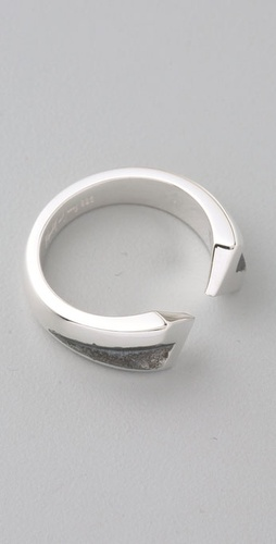 Elizabeth and James Double Chevron Ring