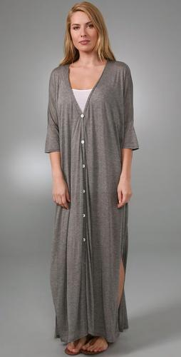 Enza Costa Oversized Button Long Dress
