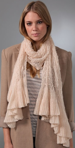 Free People Angel Ruffle Scarf