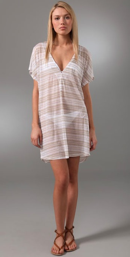 Jenni Kayne Striped Cotton Cover Up