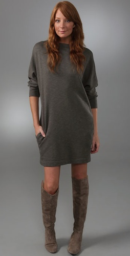 James Perse Funnel Dolman Dress