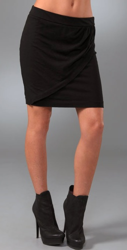 James Perse Pull On Wrap Skirt