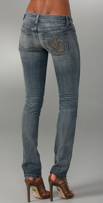 Juicy Couture Kate Skinny Jeans with Studded Pocket