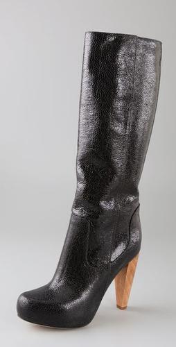 Loeffler Randall Camilla Platform Boots on Wooden Heel