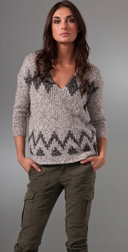 Madewell Log Cabin Pullover Sweater