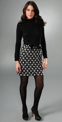 Milly Belted Turtleneck Dress