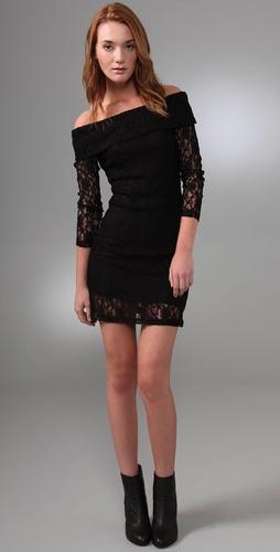 MINKPINK Professional Widow Off Shoulder Dress