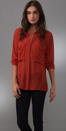Patterson J. Kincaid Harlow Long Sleeve Blouse