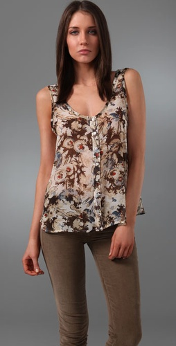 Patterson J. Kincaid Carrie Gypsy Floral Print Tank