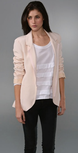 For easy casual choices, check out cute blazer jackets to layer over tops. Find fitted designs, which feature unique details like cropped cuts, one-button fronts or ruched sleeves. Or go for the looser fit of boyfriend blazers, open-front styles or draped designs.