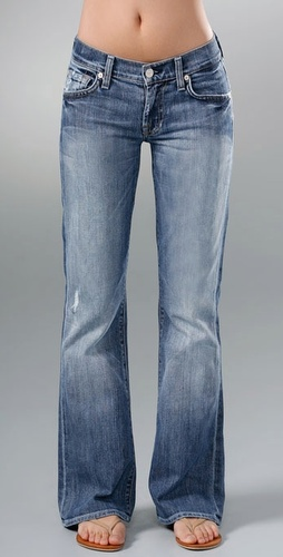 7 For All Mankind Boot Cut Short Jean
