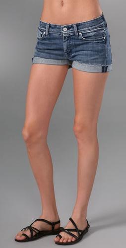 7 For All Mankind Flynt Cutoff Denim Shorts