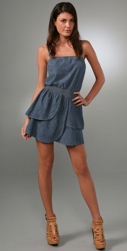 7 For All Mankind High Waist Ruffle Dress