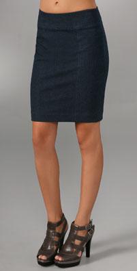 Vince Denim Pencil Skirt