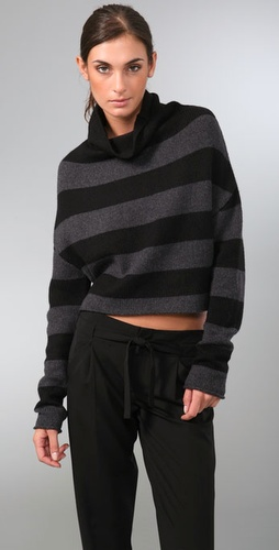 Vince Striped Turtleneck Sweater