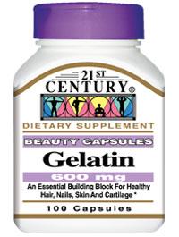 21st Century Gelatin 600mg Capsules 100ct Free Worldwide