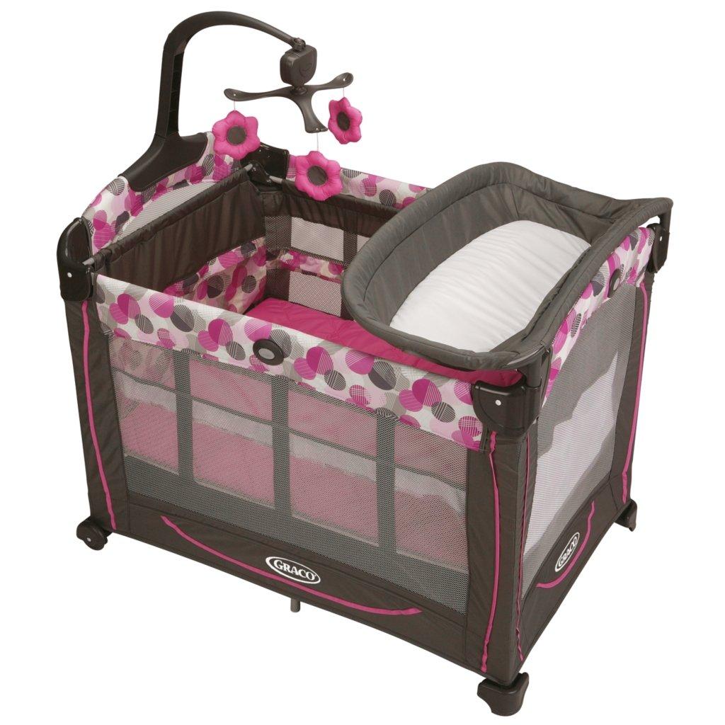 Graco Element Lexi Pink Travel Bassinet Crib Playard Pack
