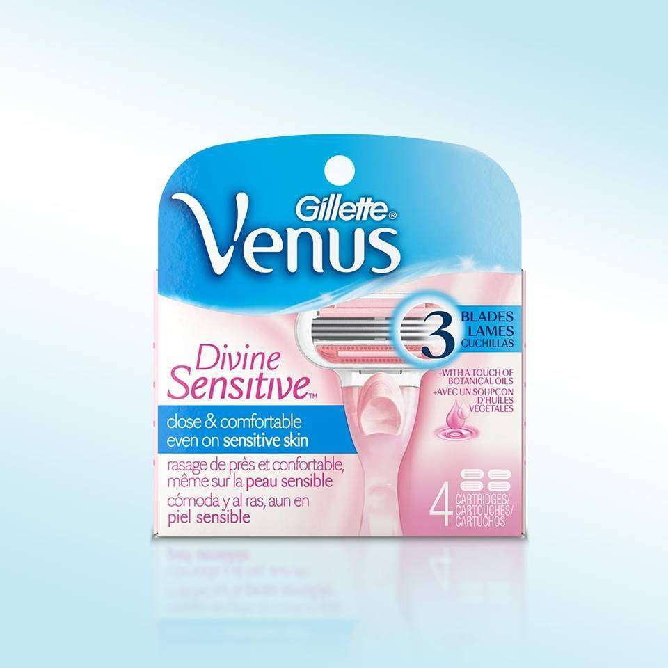 Amazon.com : Gillette Venus Divine Sensitive Women's Razor Handle, 1 Razor and 2 Razor Blade ...