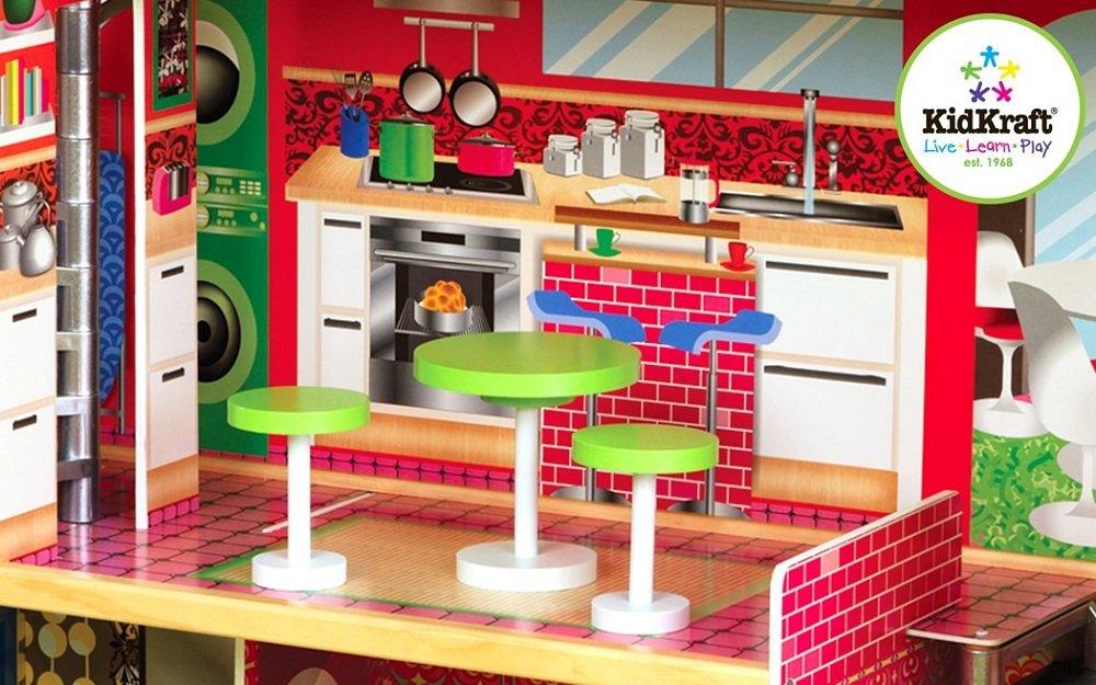 Amazon Com Kidkraft Designer Dollhouse With Furniture