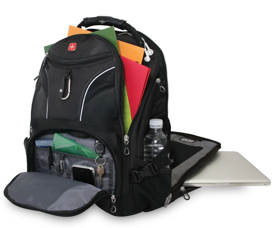 Swissgear Sa1923 Scansmart Backpack Black Amazon Ca