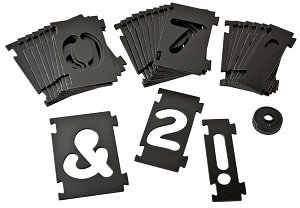 Bench dog tools 10 051 interlock signmaker 39 s numbers set for Router alphabet templates