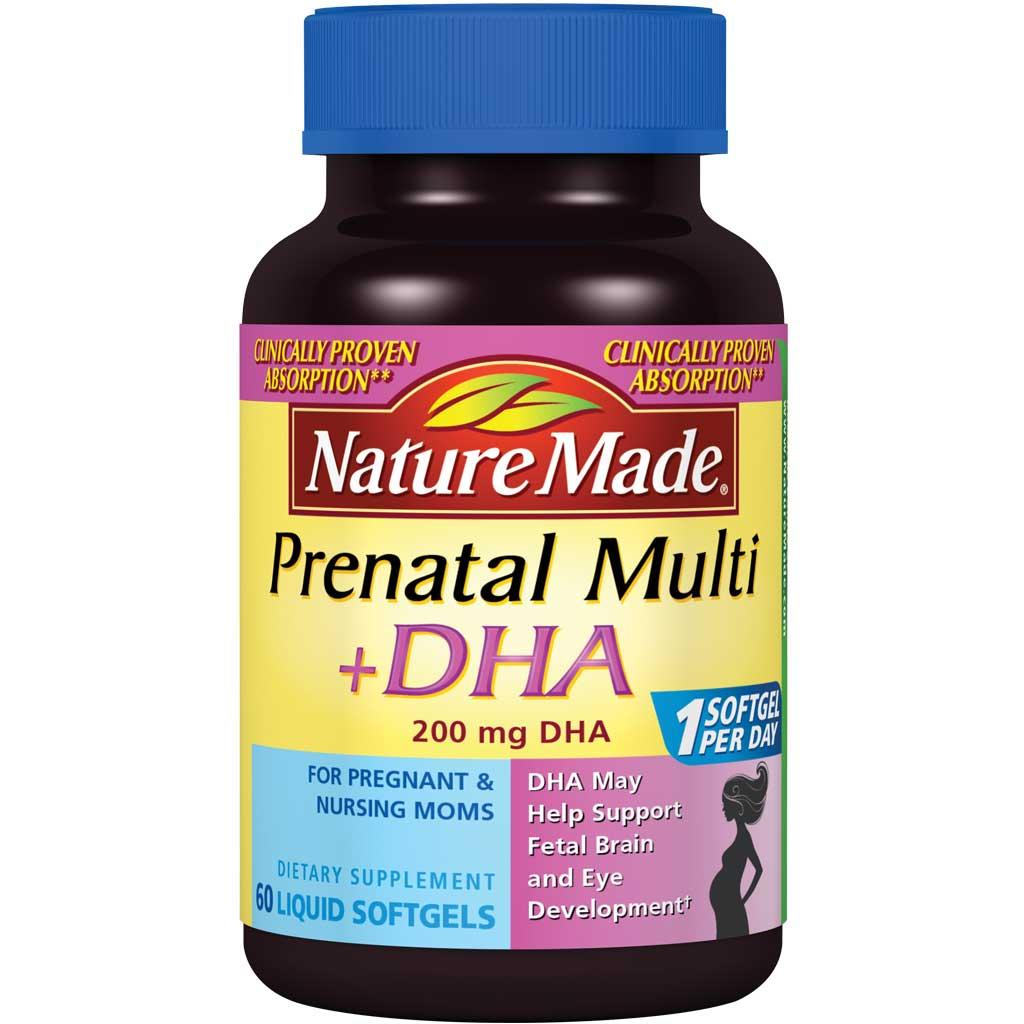 prenatal nature dha softgels count mg plus multi amazon care health