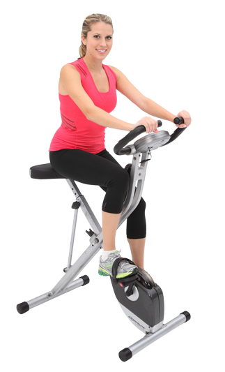 exerpeutic folding magnetic upright bike with. Black Bedroom Furniture Sets. Home Design Ideas